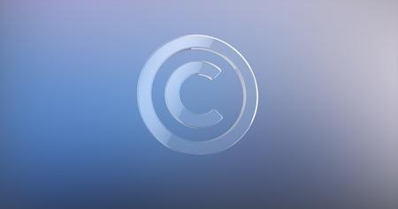 copyright: Copyright Glass 3d Icon