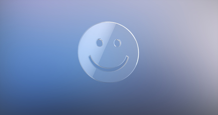 friendliness: Smile Glass 3d Icon