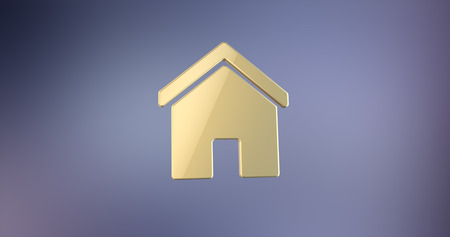 gold house: Home House Gold 3d Icon