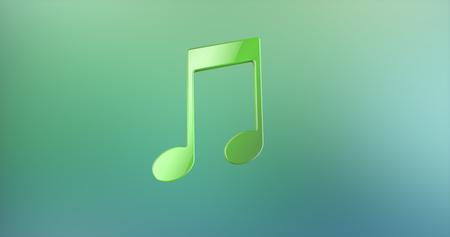 tunes: Tunes Green 3d Icon
