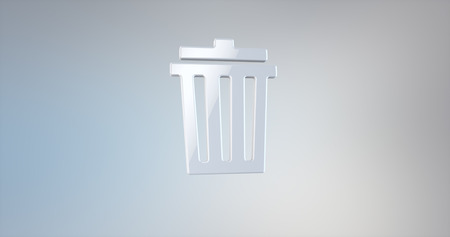 dumping: Trash Can White 3d Icon