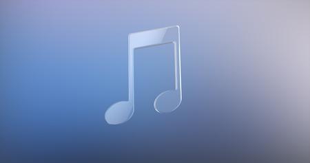 tunes: Tunes Glass 3d Icon Stock Photo
