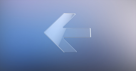 cool down: Arrow Left Glass 3d Icon