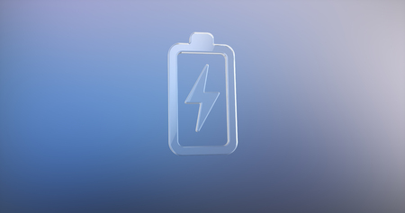 charge: Charge Glass 3d Icon Stock Photo