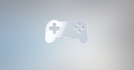 joy pad: Game Console White 3d Icon