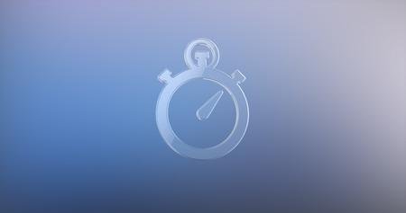 watch glass: Stop Watch Glass 3d Icon Stock Photo