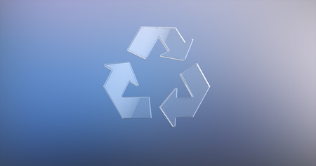 recycle glass: Recycle Glass 3d Icon
