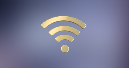 Wi-Fi Gold 3d Icon