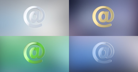 e mailing: Mail At Sign 3d Icon