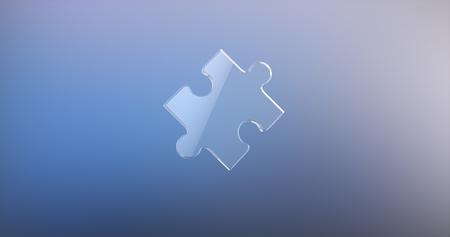 piece: Puzzle Piece Glass 3d Icon