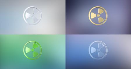 uranium: Radiation 3d Icon