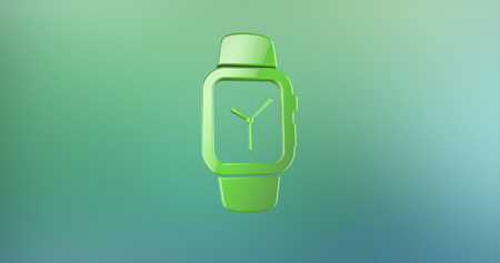 Smart Watch Green 3d Icon