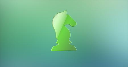 chessman: Dark Knight Green 3d Icon