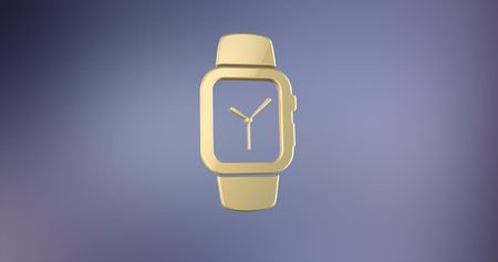gold watch: Smart Watch Gold 3d Icon