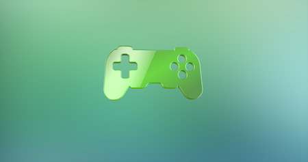 console: Game Console Green 3d Icon Stock Photo