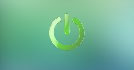 green power: Power ON Green 3d Icon