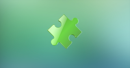 Puzzle Piece Green 3d Icon