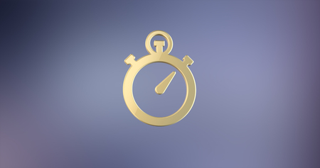 gold watch: Stop Watch Gold 3d Icon Stock Photo