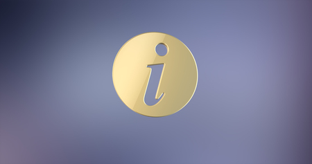 info: Info Gold 3d Icon