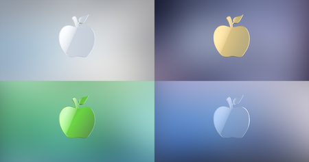 golden apple: Apple 3d Icon