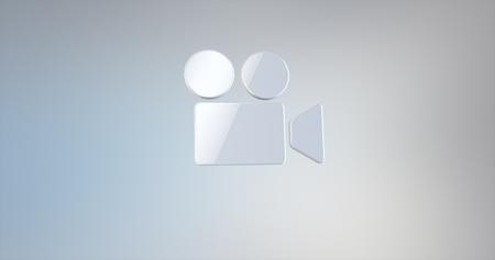 webcamera: Video Cam White 3d Icon