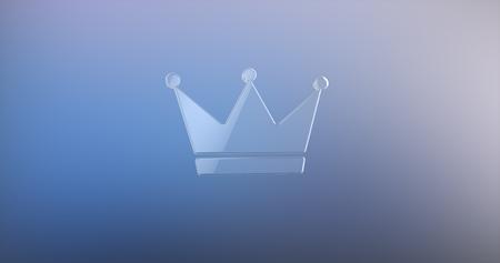 icon 3d: Crown Glass 3d Icon