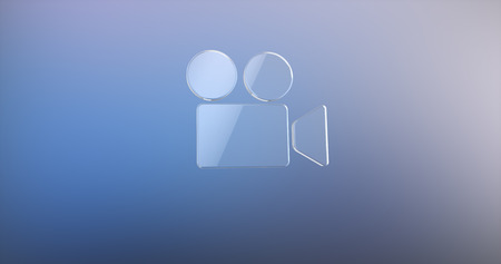 cams: Video Cam Glass 3d Icon Stock Photo