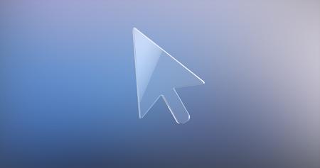 cursor: Cursor Glass 3d Icon
