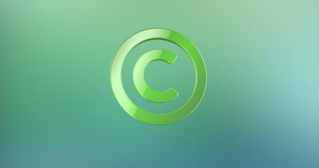 copyright: Copyright Green 3d Icon Stock Photo