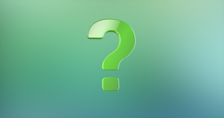 Question Mark Green 3d Icon