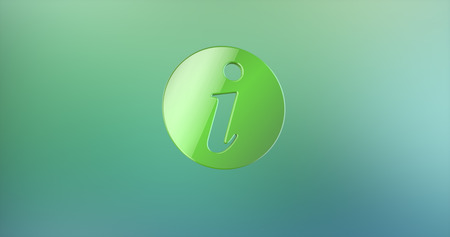 info: Info Green 3d Icon