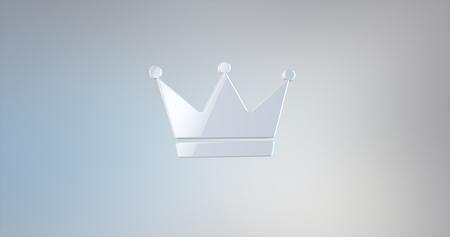 icon 3d: Crown White 3d Icon