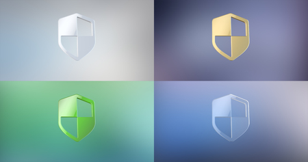 defend: Defend Shield 3d Icon on gradient background