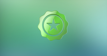 color 3d: Quality Award Color 3d Icon on gradient background