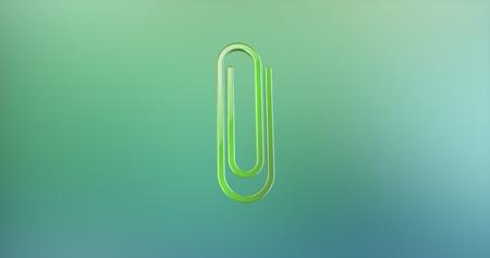 color 3d: Paperclip Color 3d Icon on Gradient Background