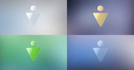 gent's: Gents Sign 3d Icon on Gradient Background