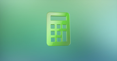 color 3d: Calculator Color 3d Icon on Gradient Background