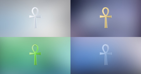 ankh: Ankh 3d Icon on Gradient Background