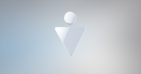 gent's: Gents Sign White 3d Icon on Gradient Background Stock Photo