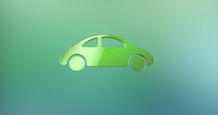 color 3d: Car Color 3d Icon on Gradient Background