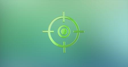 color 3d: Target Crosshair Color 3d Icon on Gradient Background