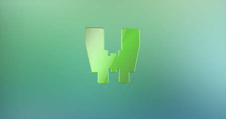 color 3d: Binoculars Color 3d Icon on Gradient Background Stock Photo