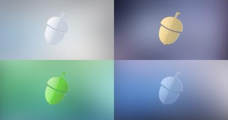 icon 3d: Acorn Nut 3d Icon