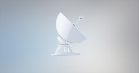icon 3d: Sattelite White 3d Icon
