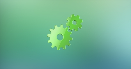 icon 3d: Working Gears Color 3d Icon