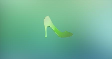 icon 3d: Heel Color 3d Icon