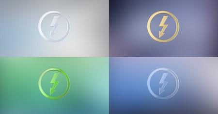 icon 3d: Lightning Shock 3d Icon