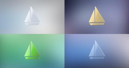 3d boat: Sea Boat 3d Icon