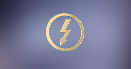 icon 3d: Lightning Shock Gold 3d Icon