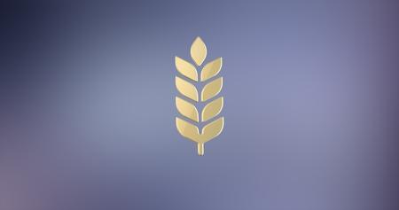 icon 3d: Wheat Gold 3d Icon Stock Photo